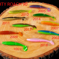 """Силиконовая приманка """"Volzhanka Naughty Roach 90"""" цвет 2002 (в упак. 6шт)"""