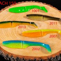 """Силиконовая приманка """"Volzhanka Big Roach 150"""" цвет 1001 (в упак. 3шт)"""