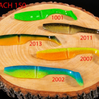 """Силиконовая приманка """"Volzhanka Big Roach 150"""" цвет 2007 (в упак. 3шт)"""