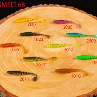 """Силиконовая приманка """"Volzhanka Sweet Smelt 68"""" цвет 2023 (в упак. 8шт)"""